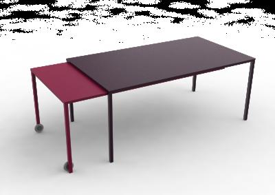Rafale XL Rectangular Table White, White