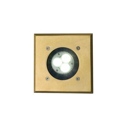 Recessed Uplight 7602 Weathered Brass, GX5.3