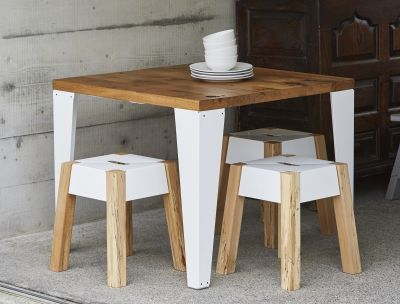 Reclaimed French Oak Cafe Table