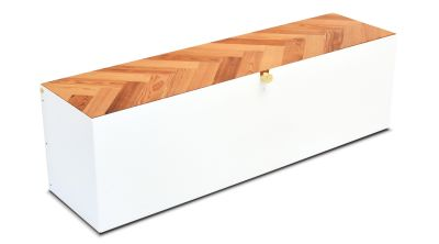 Reclaimed Parquet Blanket Bench