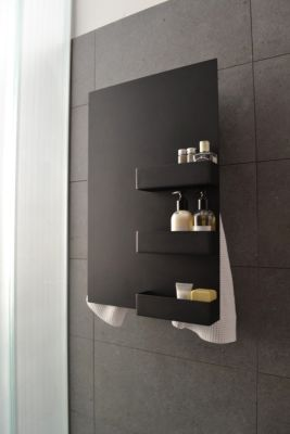 Rectangle & Shelves Towel Warmer Black