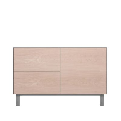 Rectangular Cabinet 1 Door & 2 Drawers Oak, Light Grey