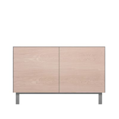 Rectangular Cabinet 2 Doors Oak, Light Grey