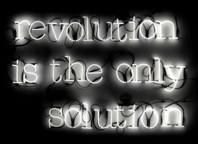 Revolution Is The Only Solution Bright White