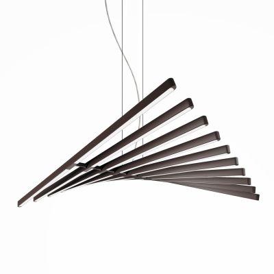 Rhythm Horizontal Pendant Light - 87 cm Height Matt Chocolate Lacquer, 45cm