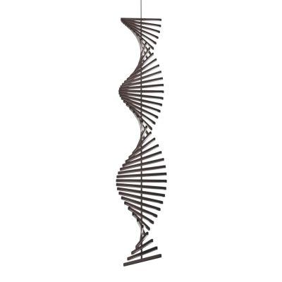 Rhythm Vertical Pendant Light - 47 cm Width Matt Chocolate Lacquer, 52.5cm, Uplight