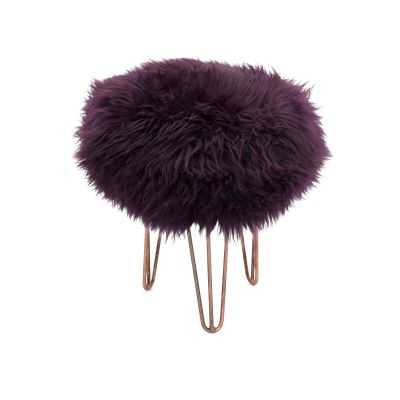 Rona Baa Stool in Aubergine