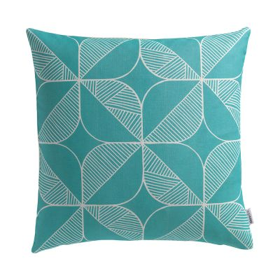 Rosette in Teal Cushion