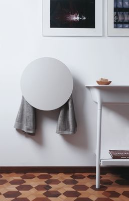 Round Towel Warmer White