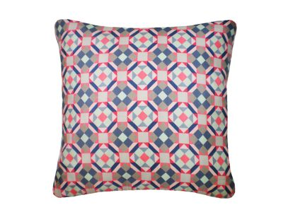 Rubik Printed Square Cushion