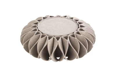 Ruff Pouf Low Gray