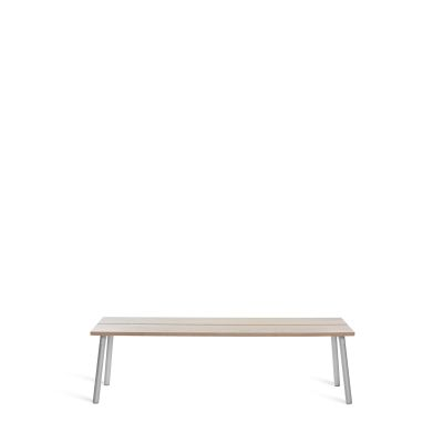 Run 3 Seater Bench Ash, Aluminum