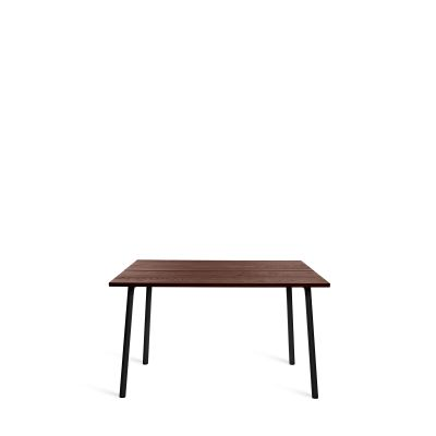 Run Dining Table 122cm, Black, Walnut Top