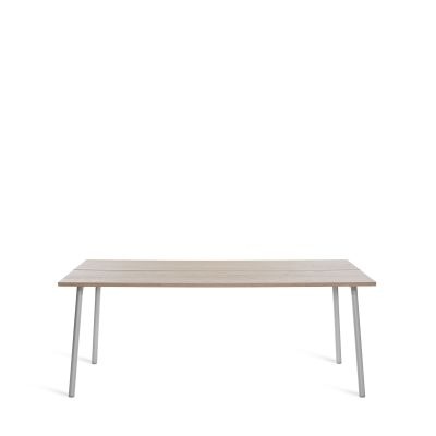 Run Dining Table Rectangular 183cm, Clear Aluminium, Ash