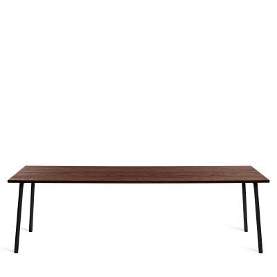 Run Dining Table Rectangular 244cm, Black Powder Coated, Walnut