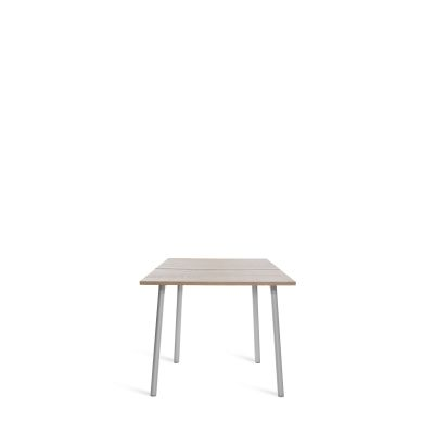 Run Dining Table 83cm, Aluminium, Ash Top