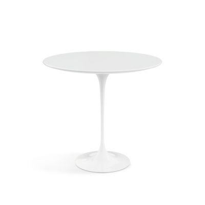 Saarinen Oval Side Table Black Base, Marble Verde Alpi Satin Top