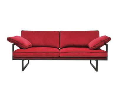 Safari GP01 Sofa Red, Ristretto Frame