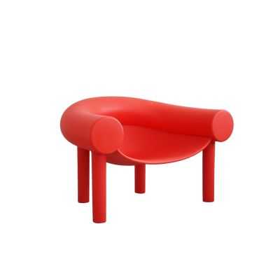Sam Son Low Armchair Red