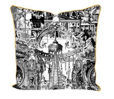 Sanctuary Skull Printed Satin Cushion Sanctuary Skull Printed Satin Cushion
