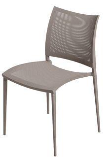 Sand-Air Upholstered Dining Chair - Stackable Reti S03 Net - White, B62 Matt White, Yes