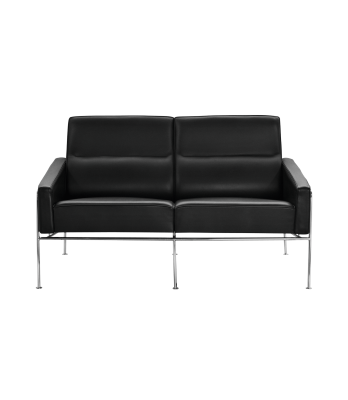 Series 3300 2-seater Sofa Classic Leather Black
