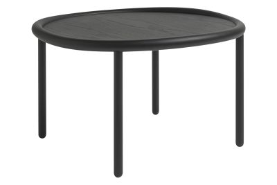 Serve Side Table Black Top, Black Legs, Large