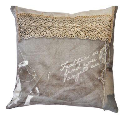 Sewn Crochet Cushion  Sewn Crochet Cushion