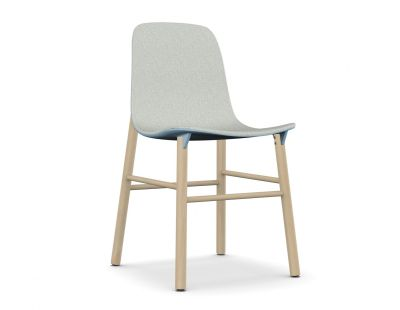 Sharky Wood base - With Seat Upholstery Light blue, Beech, A7243 - Field 132 grey
