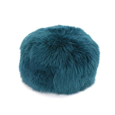 Sheepskin Baa Pouffe in Teal