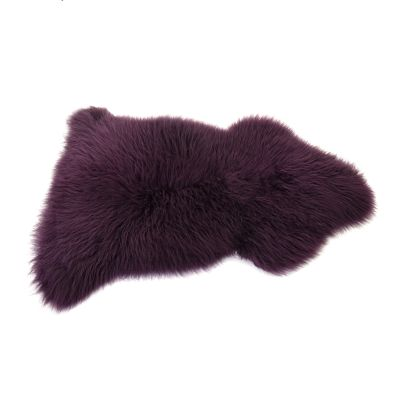 Sheepskin Rug in Aubergine
