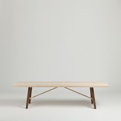 Side Bench Two Ash & Walnut, 160cm