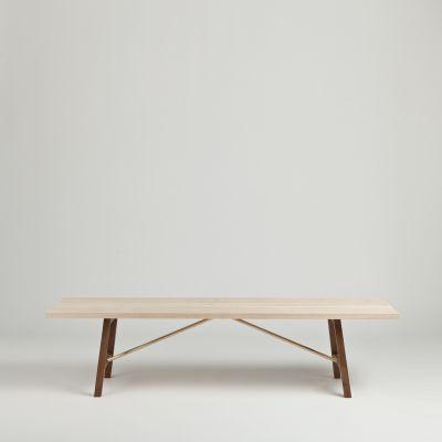 Side Bench Two Ash & Walnut, 160cm