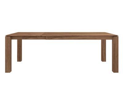 Slice Extendable Dining Table Teak, 160 - 233 x 100 x 77 cm