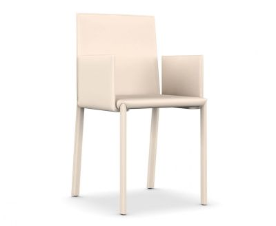 Slim Chair with Armrests Cuoietto 500