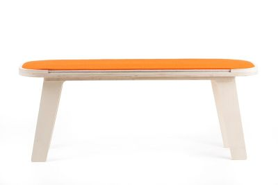 Slim Touch Bench Orange, White, Grey