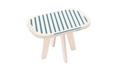 Slim Touch Side Table Dark Blue & Light Blue