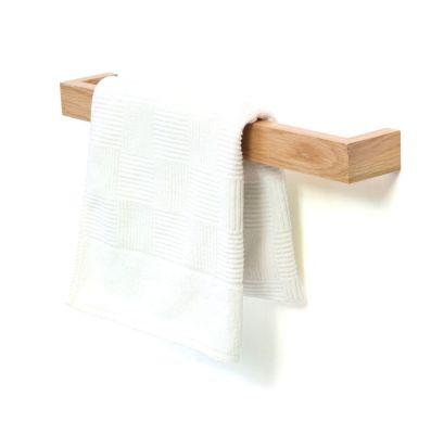 Slimline Towel Rail Wall Natural Oak, 60cm