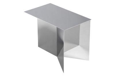 Slit Oblong Side Table Brass