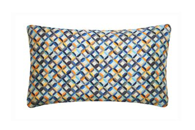 Small Chevron Printed Rectangular Cushion