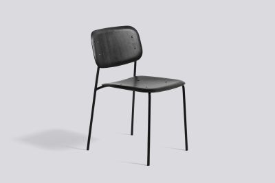 Soft Edge Dining Chair with Metal Frame Black Frame, Hunter Seat