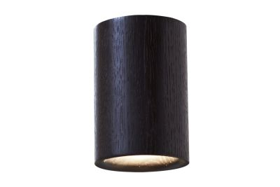 Solid Cylinder Downlight Black Stained Oak