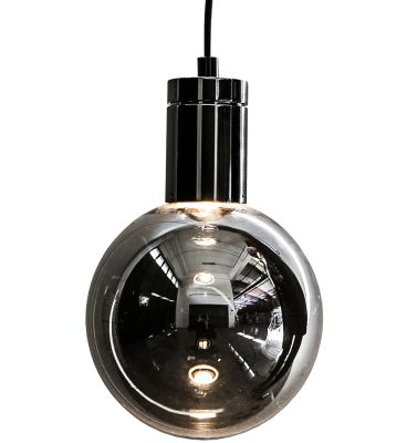 Solitario Pendant Lamp Polished Black Nickel, Smoke