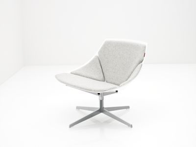 Space Lounge Chair White, Divina 3 106, with swivel