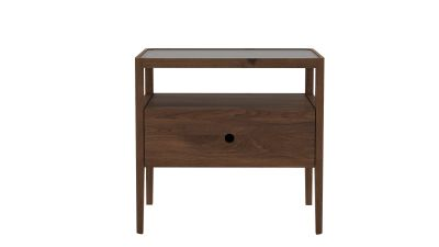 Spindle Bedside Table  Walnut