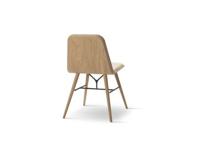 Spine Chair Oak smoked stained, Leather 47 White