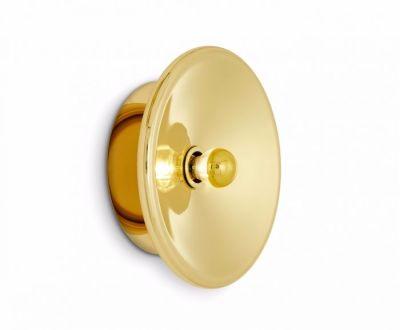 Spun Wall Light Brass