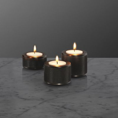 Stacked Candle Holder 3.0 Smoked Bronze