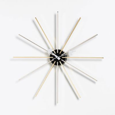 Star Clock chrome/brass