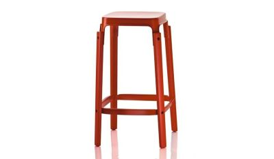 Steelwood Bar Stool Red, 68cm